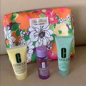 Clinique bag and skincare